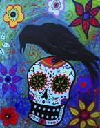 Black Bird And Skull