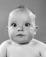 1950s Close-Up Of Baby Cross-Eyed