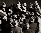 1930s 1940s Elevated View Of Group of Men