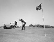 1960s Man Playing Golf Putting