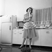 1950s Daydreaming Bored Woman
