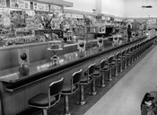 1950s 1960s Interior Of Lunch Counter