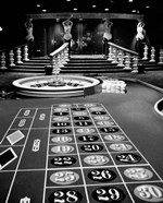 1960s Casino Viewed Of Roulette Table