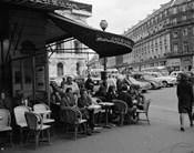 1960s Patrons At Cafe De La Paix Sidewalk Cafe In Paris?