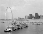 1960s St. Louis Missouri Gateway Arch Skyline