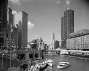 1960s Chicago River From Michigan Avenue