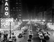 1950s 1953 Night Scene Of Chicago State Street