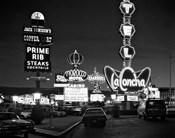 1980s Night Neon On The Strip