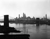 1950s Twilight Skyline Manhattan Brooklyn Bridge?