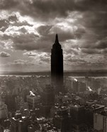 1930s 1940s Empire State Building Silhouetted In Nyc