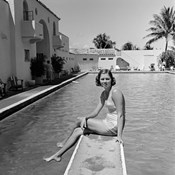 1930s Woman On Pool Diving Board