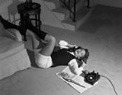 1960s Teenage Girl Lying On Floor