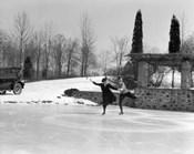 1920s Couple Man Woman Ice Skating