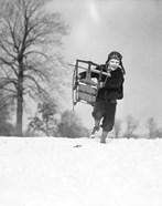 1930s Boy Wearing Aviator Cap