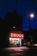 1980s 24 Hour Drug Store Neon Sign