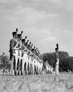 1940s A Row Of Uniformed Military College Cadets