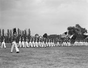 1940s Students Marching Pennsylvania Military College