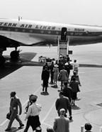 1950s Airplane Boarding Passengers