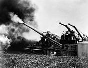 1940s Wwii Big Artillery Railroad Gun Firing