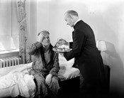 1930s 1940s Man Sit On Bed