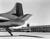 1950s Tail Of Commercial Airplane