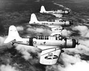 1940s Three World War Ii Us Navy Dive Bombers Flying