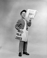 1950s Shouting Newsboy