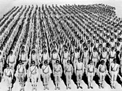 1940s Wwii Large Formation U.S. Army Infantry Soldiers