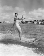 1950s Smiling Woman In Bathing Suit