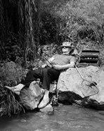 1950s Lazy Fisherman Lying Back