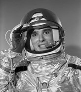 1960s Portrait Of Saluting Astronaut In Space?