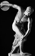 Classical Nude Figure Discus Thrower