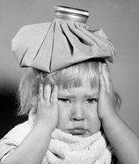 1950s Unhappy Little Blonde Girl