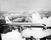 1950s Boeing 707 Passenger Jet Flying