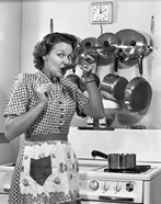 1950s Housewife Cooking