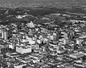 1950s Aerial View Showing El Cortez Hotel