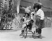 1930s Chimpanzees Wearing Hats?