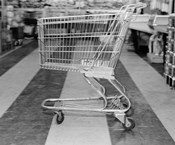 1960s Empty Shopping Cart