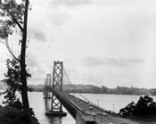 1950s Oakland Bay Bridge San Francisco California