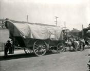1920s Ox Drawn Conestoga Covered Wagon