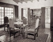 1920s Interior Upscale Mediterranean Style Dining Room