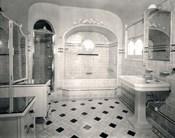 1920s Interior Upscale Tiled Bathroom