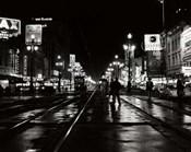 1950s Night Scene Canal Street New Orleans Louisiana Usa