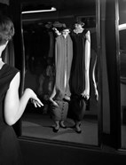 1950s Young Women Looking At Distorted Reflection