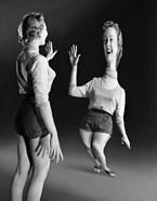 1940s 1950s Young Blond Laughing Woman