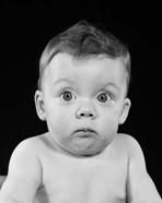 1950s Wide Eyed Chubby Cheek Baby
