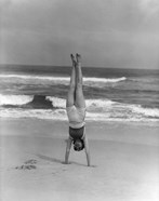1930s Woman Doing Handstand