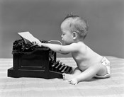 1940s Baby In Diaper Typing