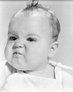 1950s 1960s Baby Face Expression Angry Sad Retr0