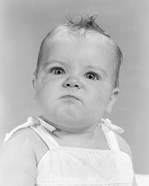1950s 1960s Portrait Baby Angry